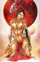 Dejah Thoris and the Warlords of Mars by jamietyndall