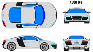 audi r8 by bagera3005