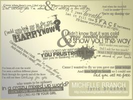 Michelle Branch Lyric Brushes by enchantingmarshie18