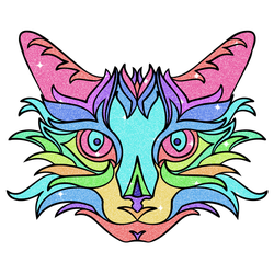 Colorful Kitty by ScorpionNinjaGirl