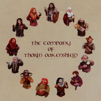 The Company of Thorin Oakenshield by thecapturedspy
