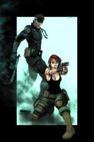 Snake and Meryl - MGS by Keith-DF