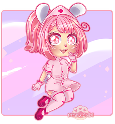 [+Video] Comission chibi Nursebunny by Myshumeaw