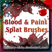 Blood + Paint Splat Brushes by mystery-nicky