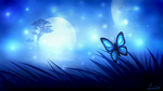Butterfly in the moonshine by LiussSteen