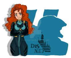 Concours PIMP my PRINCESS Merida en plugsuit by Aiko-Katon