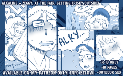 ALKALINE AND ZEGGY, NEW R18+ COMIC! by DarkChibiShadow