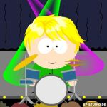 Charley with a drum kit by Racesgirl2000-1