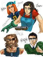 Minecraft Story Mode fanart - my sketchdump xD by Norvadier