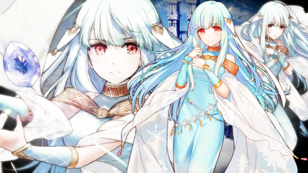 Fire Emblem Heroes - Ninian Wallpaper by AuroraMaster