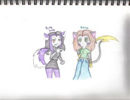 Purple Husky and Skitter by MistressInsanity