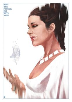 Tribute to Carrie Fisher by MonoriRogue