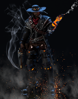 [Overwatch] Van Helsing : McCree [Updated] by The-Brownie