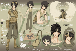 ATLA - Ti Jinh Reference Sheet by Beedalee-Art