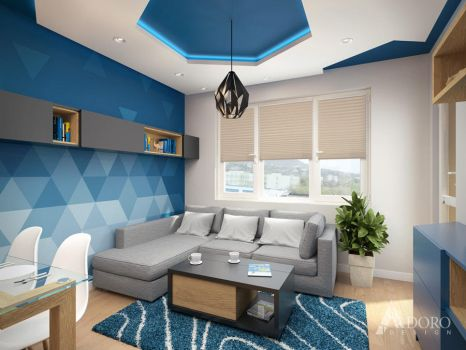 Underwater color living room by adorodesign