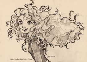 Sketch style (Princess Merida) 7 by Shricka