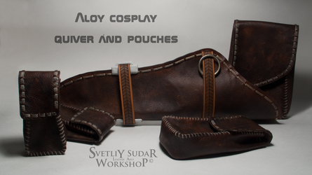 Aloy cosplay (leather quiver and pouches) by Svetliy-Sudar