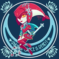Champion Sticker 2- Mipha by hollarity