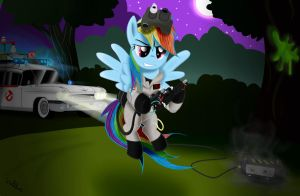Rainbow Dash Ghostbusters by ColonelWalther