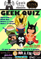 Poster for our 5th Quiz by TheGeekShowUK