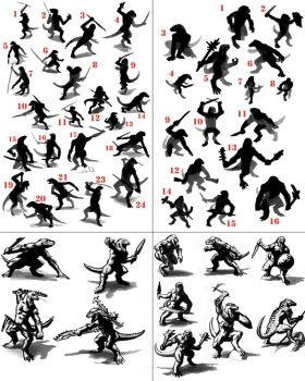 Reptilian Design: Poses by DSil