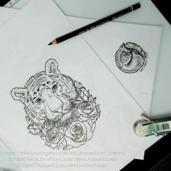 Tattoo Design Work, pussy game getting stronger by vonSchloss