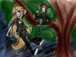 MT (emty) vampire and natz the human by teresastrawberry