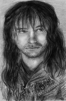 Kili by the campfire by Lariethene