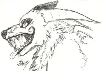 Despair Demon-wolf headshot by HawkfrostsAvenger