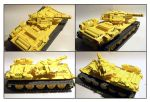 Lego Big Yellow Tank by Frohickey