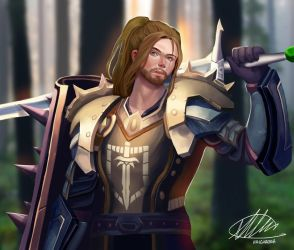 Commission: Alexander Clark by HalChroma