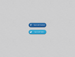 Social Media Sign in Buttons by xara24