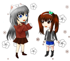 MoE : Collab - Switch Clothes! Calyx and Chisa by DeanaHere