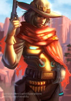 Jesse McCree - Overwatch by CAROTdrawsthings