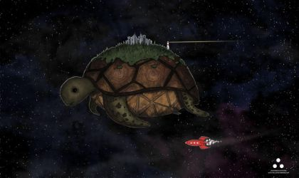 cosmic turtle by burnt-a4