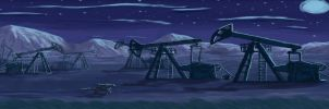 Abandoned Oil Wells by Meljona