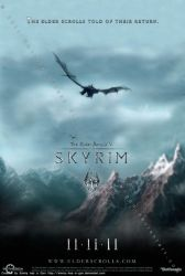 TES V: Skyrim Poster by Emmy-has-a-Gun