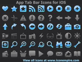 App Tab Bar Icons for iOS by Ikont