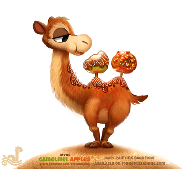 Daily Paint 1785# Camelmel Apples by Cryptid-Creations