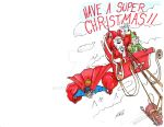 2017 Holiday Cards - Super XMas team up by artildawn