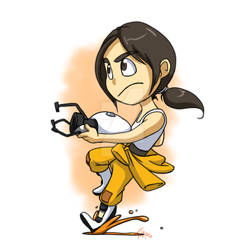 Commission: Chell by forte-girl7