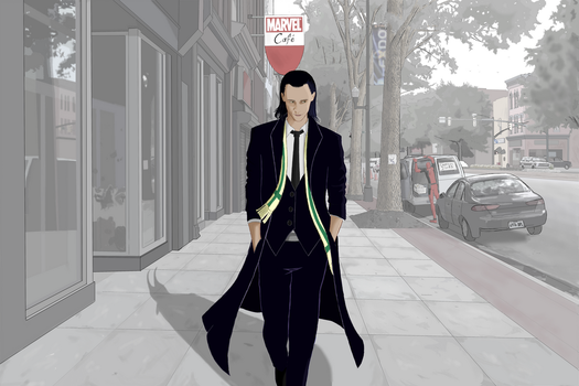 The God of Mischief Takes a Stroll by medusa747