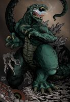 Godzilla by aaronjohngregory