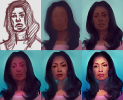 Gina Torres Process by chacuri