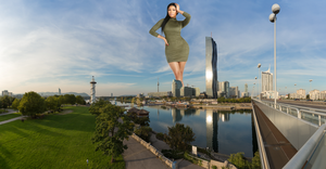 Giantess Nicki Minaj in Vienna by DeckartJohn