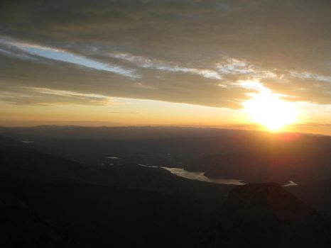 Sunset from top of Mt. Timp by tadamson