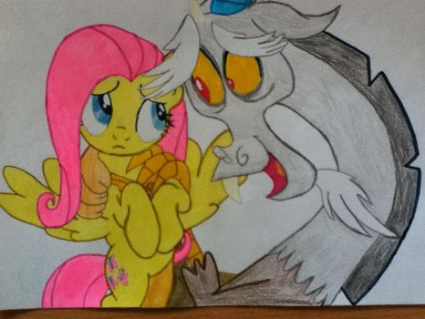 Fluttershy and Discord by clouddasher
