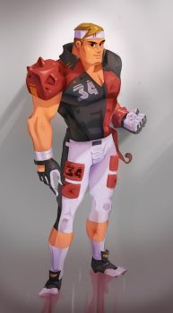 Human Male Player for GridIron by red--fox