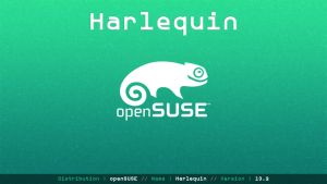openSUSE 13.2 Harlequin Wallpaper [id_04] by ZeroxProject