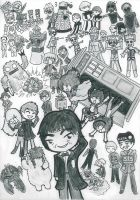 2nd Doctors Chibi Madness! by SpazMuse